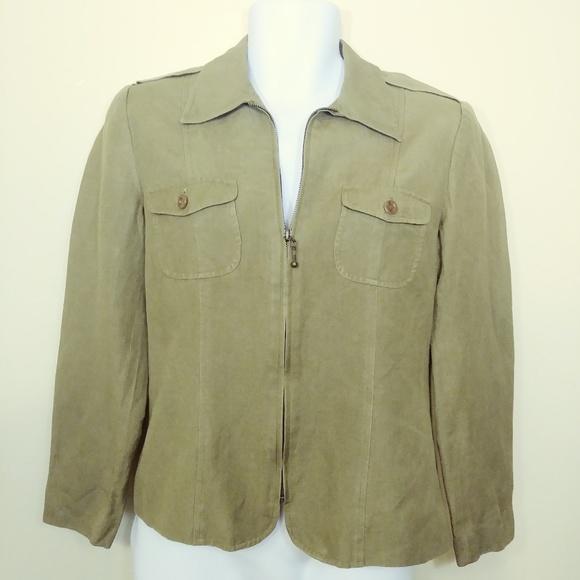 Rafaella Jackets & Blazers - Womens Rafaella Sz 6 Blazer Coat Jacket, Military
